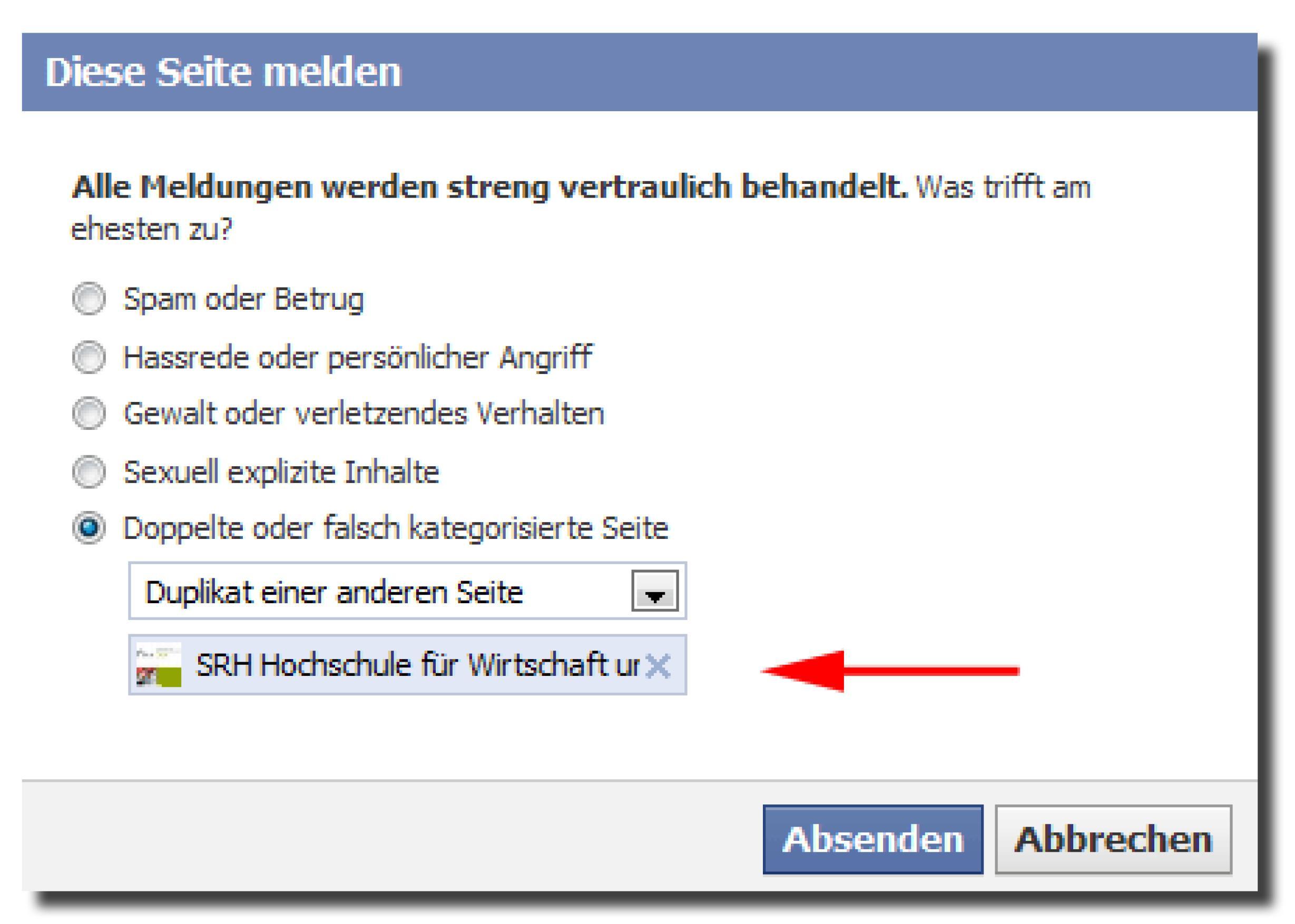 Facebook Gemeinschaftsseite löschen | frankrapp.de
