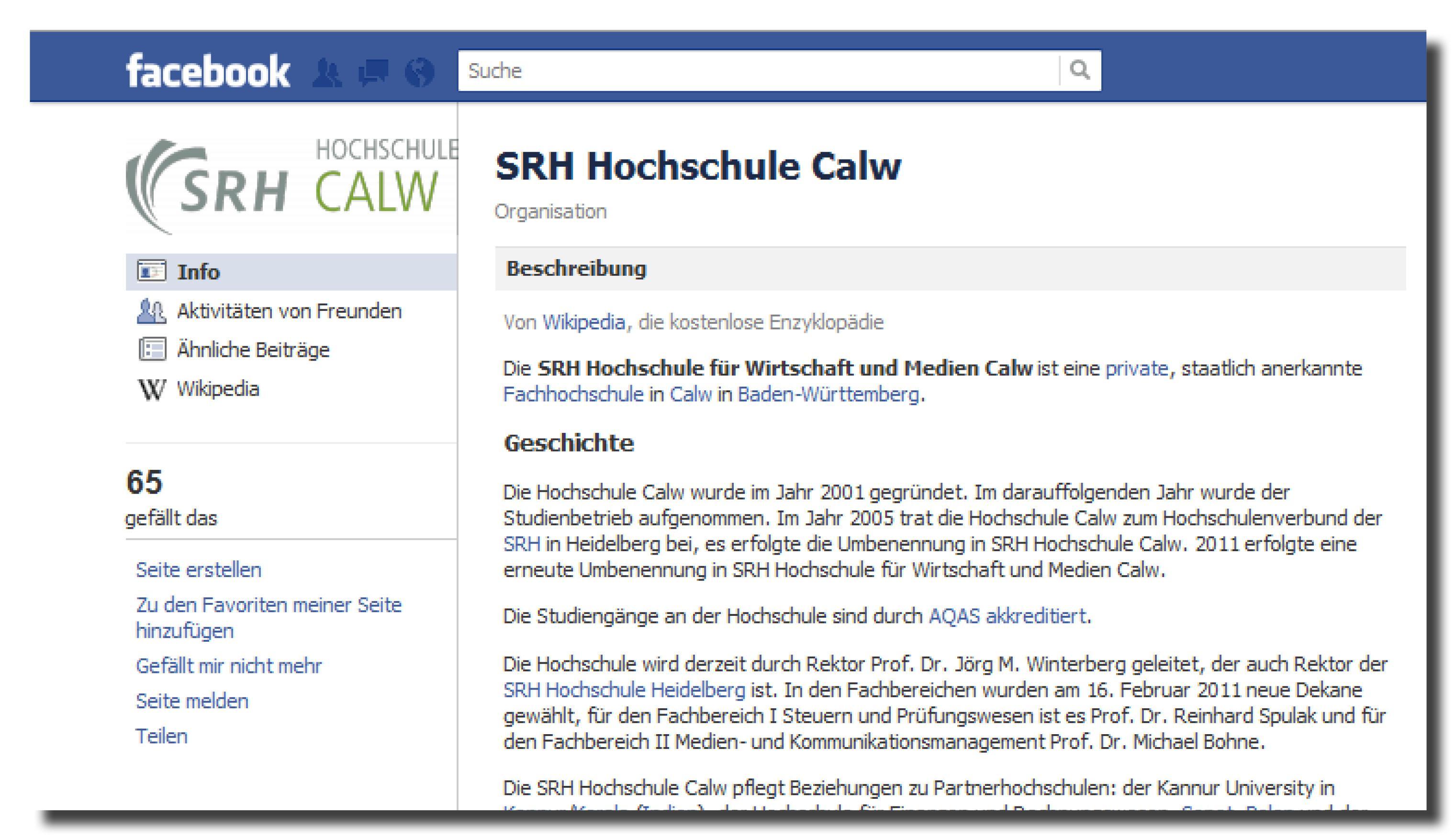 Facebook Gemeinschaftsseiten