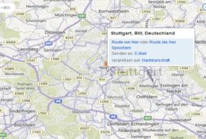 Bing Maps in die eigene Webseite einfügen